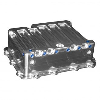 Meziere Enterprises® - Automatic Transmission Pan with Heat Exchanger