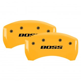 MGP® - Gloss Yellow Rear Caliper Covers with BOSS Engraving