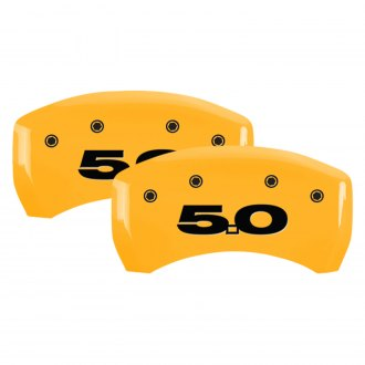 MGP® - Gloss Yellow Rear Caliper Covers with 5.0 Engraving