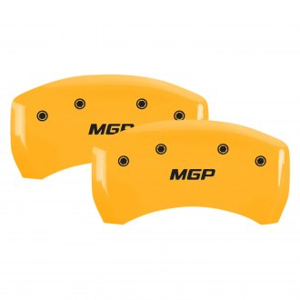 MGP® - Gloss Yellow Rear Caliper Covers with MGP Engraving
