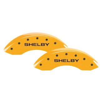 MGP® - Gloss Yellow Caliper Covers with Shelby / Tiffany Snake Engraving (Full Kit, 4 pcs)