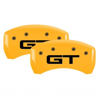 MGP® - Gloss Yellow Rear Caliper Covers with GT Engraving