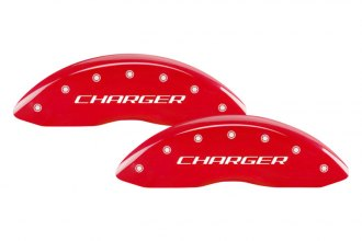 MGP® 12001SCHRRD - Gloss Red Caliper Covers with Charger / RT Engraving