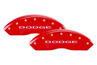 MGP® - Gloss Red Caliper Covers with Dodge Engraving