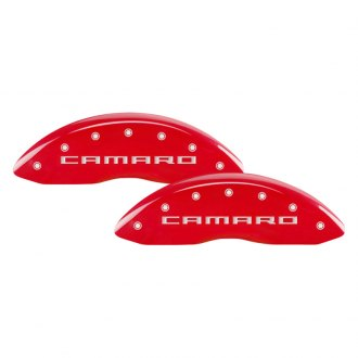 MGP® - Gloss Red Caliper Covers with Camaro / RS Gen 5 Engraving