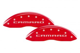 MGP® 14033SCR5RD - Gloss Red Caliper Covers with Camaro / RS Gen 5 Engraving