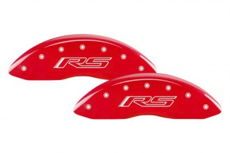 MGP® 14033SRS5RD - Gloss Red Caliper Covers with RS Gen 5 Camaro Engraving