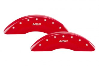 MGP® 23203SMGPRD - Gloss Red Caliper Covers with MGP Engraving