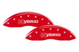 MGP® - Gloss Red Caliper Covers with GM Hybrid Logo Engraving