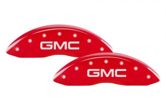 MGP® 34009SGMCRD - Gloss Red Caliper Covers with GMC Engraving
