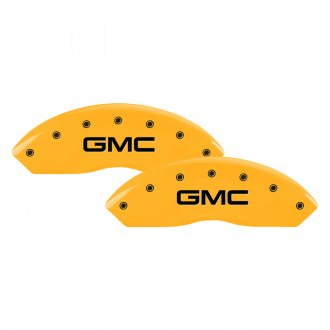 MGP® - Gloss Yellow Caliper Covers with GMC Engraving (Full Kit, 4 pcs)