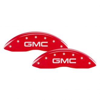 MGP® - Gloss Red Front Caliper Covers with GMC Engraving