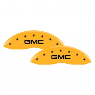 MGP® - Gloss Yellow Front Caliper Covers with GMC Engraving