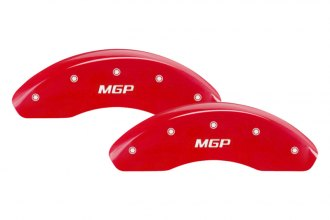 MGP® 39006SMGPRD - Gloss Red Caliper Covers with MGP Engraving