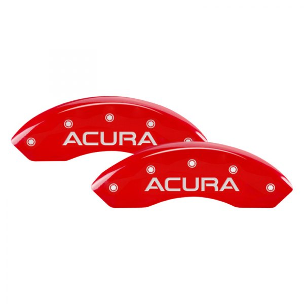 MGP® - Gloss Red Front Caliper Covers with Acura Engraving (Full Kit, 4 pcs)