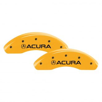 MGP® - Gloss Yellow Caliper Covers with Acura / NSX Engraving (Full Kit, 4 pcs)