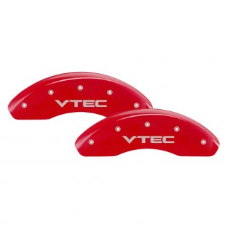 MGP® - Gloss Red Caliper Covers with Vtec Engraving (Full Kit, 4 pcs)