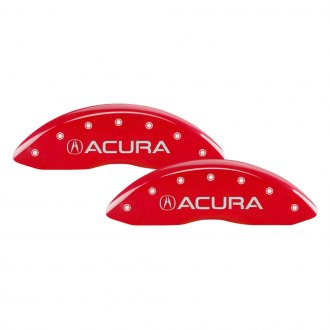 MGP® - Gloss Red Caliper Covers with Acura / MDX Engraving (Full Kit, 4 pcs)