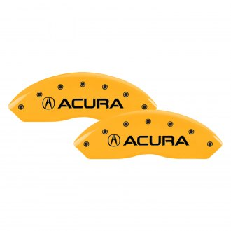 MGP® - Gloss Yellow Caliper Covers with Acura / RLX Engraving (Full Kit, 4 pcs)