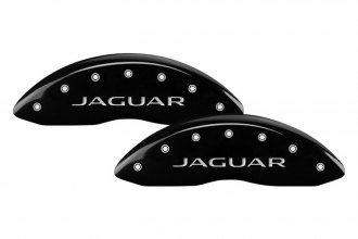 MGP® - Gloss Black Caliper Covers with Jaguar / Leaper Logo Engraving