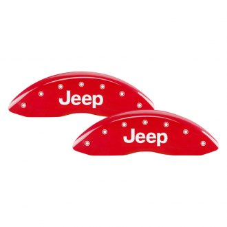 MGP® - Gloss Red Caliper Covers with Jeep Engraving (Full Kit, 4 pcs)