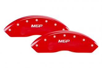 MGP® 47005SMGPRD - Gloss Red Caliper Covers with MGP Engraving