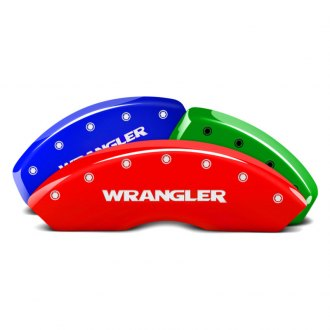 MGP® - Custom Colors Caliper Covers with Wrangler Engraving (Full Kit, 4 pcs)