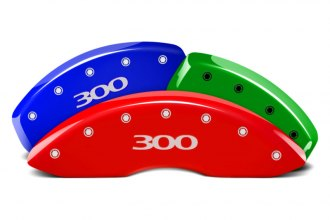 MGP® 32004S300DF - Custom Colors Caliper Covers with 300 Engraving