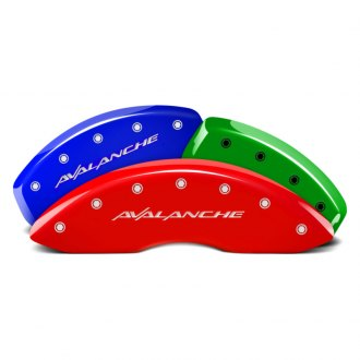MGP® - Custom Colors Caliper Covers with Avalanche Engraving (Full Kit, 4 pcs)