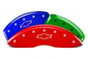 Image may not reflect your exact vehicle! MGP® - Custom Colors Caliper Covers with Bowtie Engraving