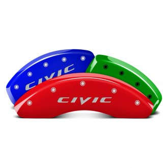MGP® - Custom Colors Caliper Covers with Civic Engraving (Full Kit, 4 pcs)