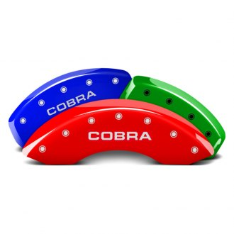 MGP® - Custom Colors Caliper Covers with Cobra Engraving (Full Kit, 4 pcs)