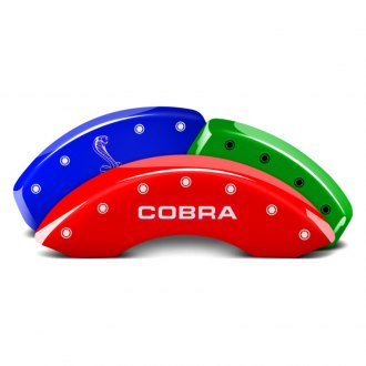 MGP® - Custom Colors Caliper Covers with Cobra / Snake Logo Engraving (Full Kit, 4 pcs)