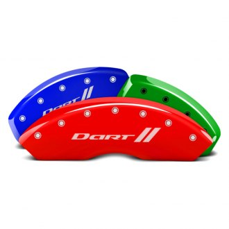 MGP® - Custom Colors Caliper Covers with Dart and Stripes Engraving (Full Kit, 4 pcs)