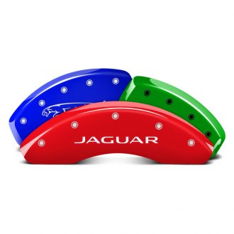 MGP® - Custom Colors Caliper Covers with 2011 Jaguar / Leaper Engraving (Full Kit, 4 pcs)