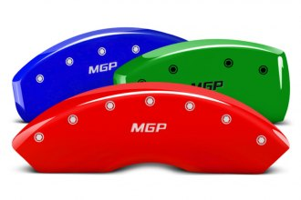 Image may not reflect your exact vehicle! MGP® - Custom Colors Caliper Covers with MGP Engraving (Full Kit, 4 pcs)