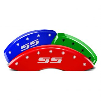 MGP® - Custom Colors Caliper Covers with SS Silverado Engraving (Full Kit, 4 pcs)