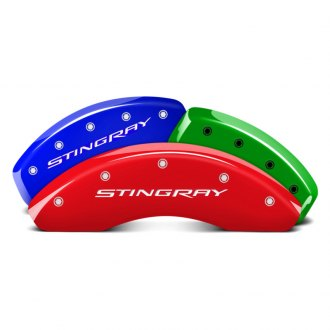 MGP® - Custom Colors Caliper Covers with Stingray Engraving (Full Kit, 4 pcs)