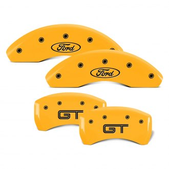 MGP® - Gloss Yellow Caliper Covers with Engraving