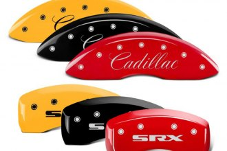MGP® - Caliper Covers with Front Cadillac and Rear SRX Engraving (Full Kit, 4 pcs)