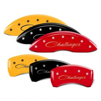 MGP® - Caliper Covers with Challenger Cursive Engraving (Full Kit, 4 pcs)