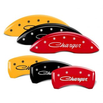 MGP® - Caliper Covers with Charger Cursive Engraving (Full Kit, 4 pcs)