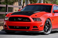 MICKEY THOMPSON® - SC-5 Gloss Black with Mirror Machined Lip on Ford Mustang