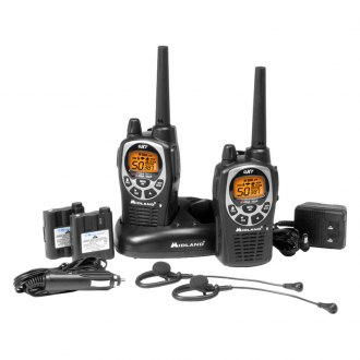 Midland® - 36-Mile GMRS Radio Pair Pack with Batteries and Drop-In Charger