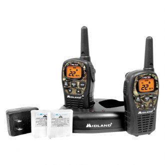 Midland® - 24-Mile GMRS Radio Pair Pack with Drop-in Charger & Rechargeable Batteries