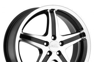 "MILANNI® - KOOL WHIP 5 Gloss Black with Machined Face and Lip (15"" x 6.5"", +38 Offset, 5x100 Bolt Pattern, 74.1mm Hub)"