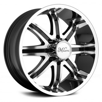 MILANNI® - KOOL WHIP 8 Gloss Black with Machined Face and Lip
