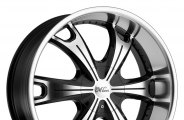"MILANNI® - STELLAR Gloss Black with Machined Face and Lip (18"" x 8"", +18 Offset, 6x139.7 Bolt Pattern, 110mm Hub)"