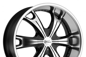 "MILANNI® - STELLAR Gloss Black with Machined Face and Lip (20"" x 9"", +15 Offset, 5x114.3 Bolt Pattern, 78.1mm Hub)"