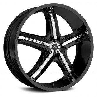 MILANNI® - BEL AIR 5 Gloss Black with Chrome Inserts